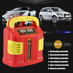 350w Car Lcd Battery Charger Booster W/3-stage Charging 14a Portable Power Pack