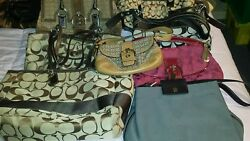 Woman's Coach Huge! Bag Lot..all genuine leather&canvas♡ 8 Coach Bags