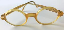 Vintage Morgenthal Fredricks Glasses Honey Colored Acetate wCase 43-20-Col 102 $140.00