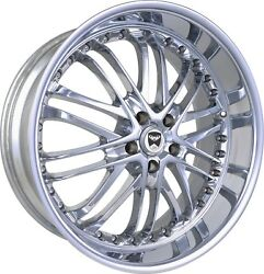 4 GWG Wheels 18 inch Chrome AMAYA Rims fits CHEVY IMPALA 2000 - 2013