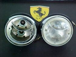 Ferrari 330 Parking Lamp Directional Lights_Carello_Pair_OEM_NEW