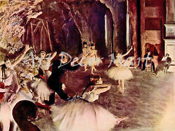 Rehearsal On The Stage By Degas - Canvas Or Print Wall Art