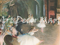The Rehaersal On The Stage-degas - Canvas Or Print Wall Art