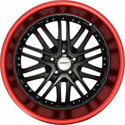 4 GWG Wheels 20 inch Black Red Lip AMAYA Rims fits CHEVY IMPALA 2000 - 2013