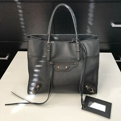 Hot Designer Balenciaga Papier Mini A4 Leather Square Tote Hand Bag Purse $1400