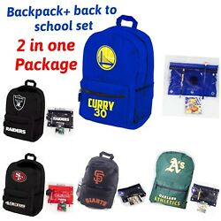 Back To School Set And Sport Backpack 2 In 1 Package