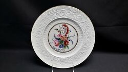 Wedgwood England Patrician Floral Center Gold Trim Pattern 3976 Dinner Plate
