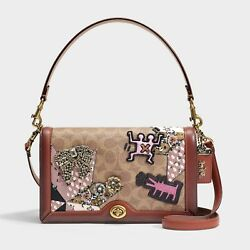 NWT COACH 1941x Keith Haring Signature Patchwork Shoulder Crossbody Bag