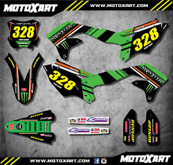 Full Graphics Kit Fits Kxf 450 2016 - 2018 Burnout Style Custom Stickers Decals