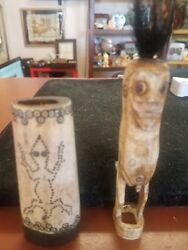 African Or Vintage Native American Hand Carved Very Rare Finds