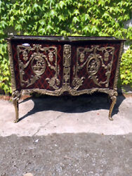 Important Inlaid Sideboard With Original Bronzes - Restored In Progress