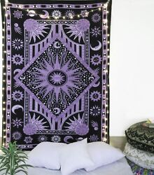 Black Sun Moon Tapestry Bohemian Wall Hanging Home Decor Bedspread Wall Decor