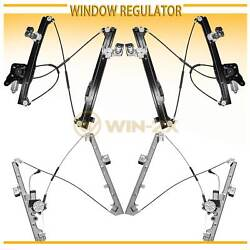 Set of 4 New Front+Rear Power Window Regulator w Motor Fit ChevyGMCCadillac