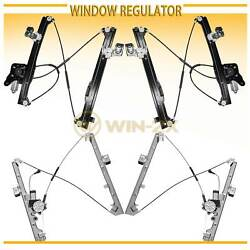 Set of 4 New Front+Rear Power Window Regulator w/ Motor Fit Chevy/GMC/Cadillac