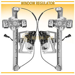 2pc Front Left+Right Power Window Regulators w Motor Fit 00-01 Cadillac DeVille