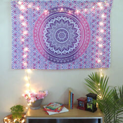 Indian Ombre Wall Hanging Mandala Hippie Wall Tapestry Bohemian Home Decor Gift