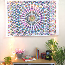 Indian Peacock Mandala Wall Tapestry Poster Hippie Wall Decor Tapestry HomeDecor