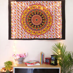Indian Elephant Mandala Wall Hanging Wall Poster Hippie Wall Home Decor Tapestry