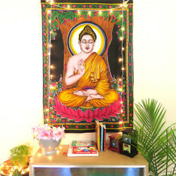 Wall Tapestry Buddha Bohemian Home Dorm Decor Fabric Wall Indian Cotton Poster