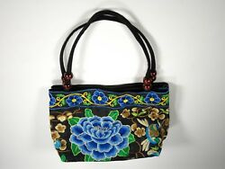 Shoulder Bag - Blue Floral Design