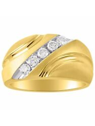 Gents Diamond Ring Set In 14k Yellow Gold Mr3249y-h