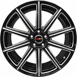 4 GWG Wheels 20 inch Black Mill MOD Rims fits CHEVY IMPALA 2000 - 2013