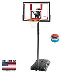 Portable Basketball Hoop 48-Inch Adjustable Outdoor Sports Play Game Kids Team
