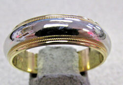 Men's  And Co. Platinum And 18k  Wedding Band Ring Size 10  Make Offer