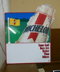 Michelob Bottle Beer Golf Days Better Sign Thermometer Great Shape 1993 Rare L1