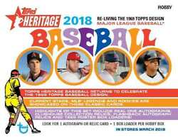 2018 Topps Heritage Pick What You Need - Includes Base Sp Inserts Rookies