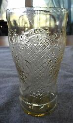 Federal Glass Amber Depression Glass Normandie 5 12 Ounce Flat Ice Tea Tumbler