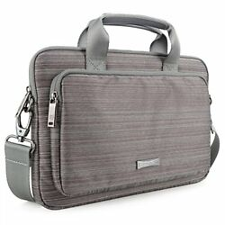 Laptop Bag Evecase 17.3 Inch Classic Padded Briefcase Messenger Case with Strap