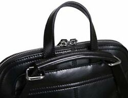 Black Vintage Leather Backpack Casual Daypack for Ladies and Girls