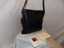 Vintage Coach 9806 Leather Shoulder Bucket Bag With Hangtag Black Brass USA