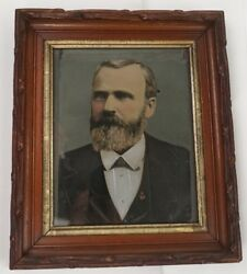 Rare Oil On Metal Us 20th President James A Garfield Late 19th Century Unsigned