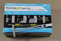 Toggler Bb Snaptoggle 50pk With 1/4-20x3 Screws And Washers Toggle Bolt 25014
