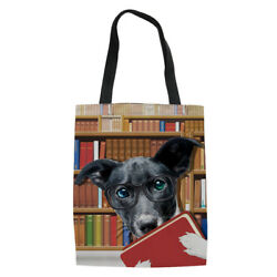 Dog Designs Handbag Trendy Canvas Totes Women Girls Hobo Shopping Sling Purse $11.99