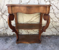 Ancient Louis Philippe Console Table in Walnut - To be restored