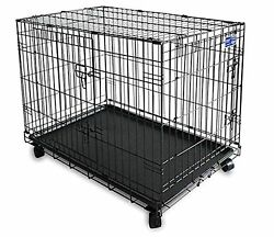 Simply plus Dual Door Dog Cage with Casters 24