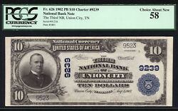 10 1902 Pb The Third National Bank Of Union City Tennessee Ch 9239 Pcgs 58