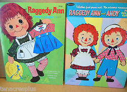 Lot Raggedy Ann And Andy Paper Dolls And Clothes 1966 And Magic Press Out Clothes
