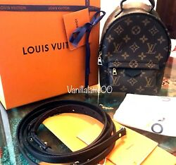 Authentic Louis Vuitton Palm Springs mini Backpack Crossbody Bag - Used 4x