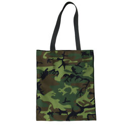 Camo Designs Shoulder Totes Women Girls Canvas Handbag School Outdoor Hobo Bags $8.99