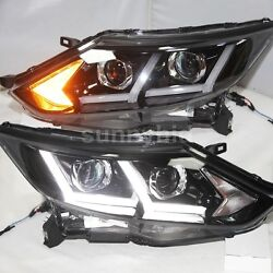 2016-2017 Year For Nissan Qashqai Dualis LED Strip Head Lamps Projector Lens LF