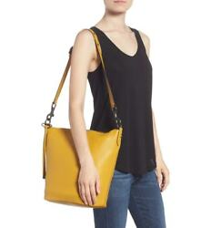 NWT COACH 1941 Duffle Pebble Leather Tote Bucket Bag Flax Mustard Yellow $450.00