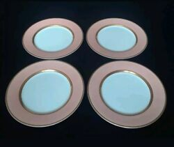 Renaissance Peach Fitz And Floyd Bread And Butter Plates-set Of 4