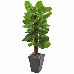 Artificial 5 ft Large Leaf Philodendron Plant