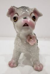Vintage Porcelain French Bulldog Dog Figurine