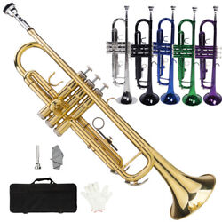 New 6 Colors School Student Band Brass B Flat Bb Trumpet With Case For Beginner