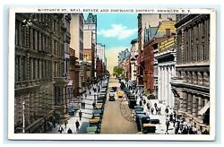 Montague Street Real Estate Insurance District Brooklyn Ny Postcard 1933 C7